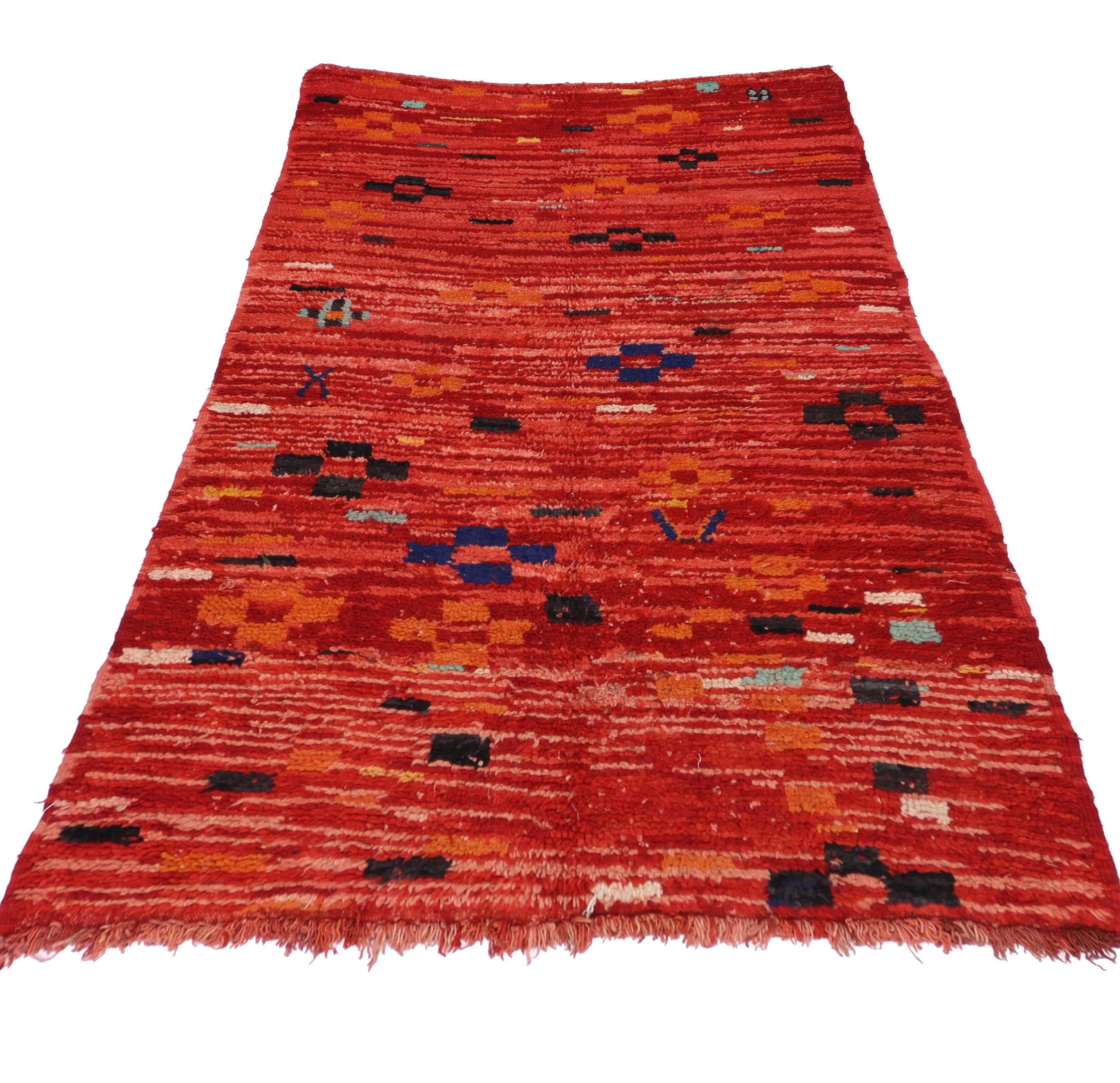 4 X 7 Vintage Moroccan Rug 74560