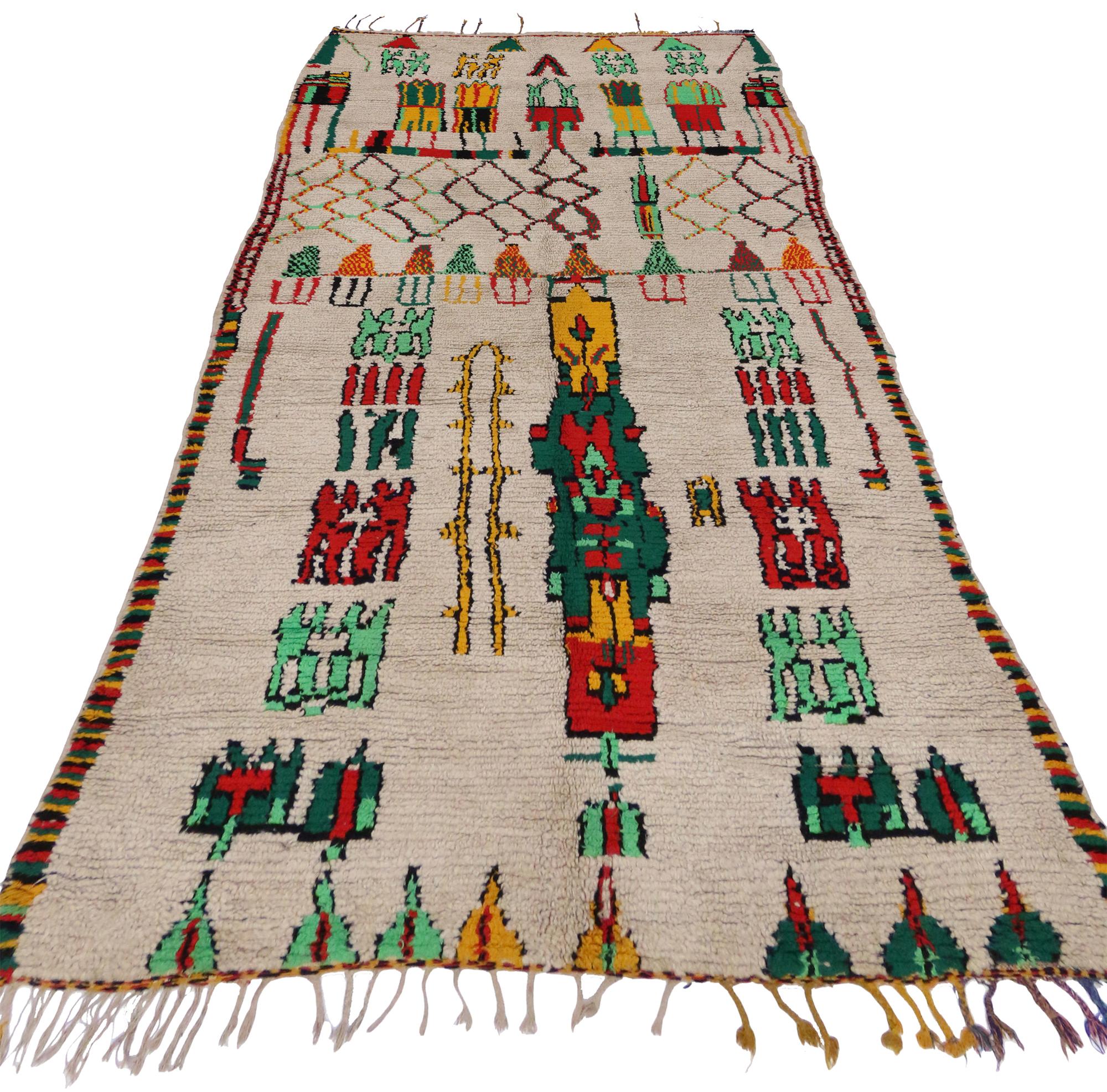 5 X 10 Vintage Moroccan Rug 20068