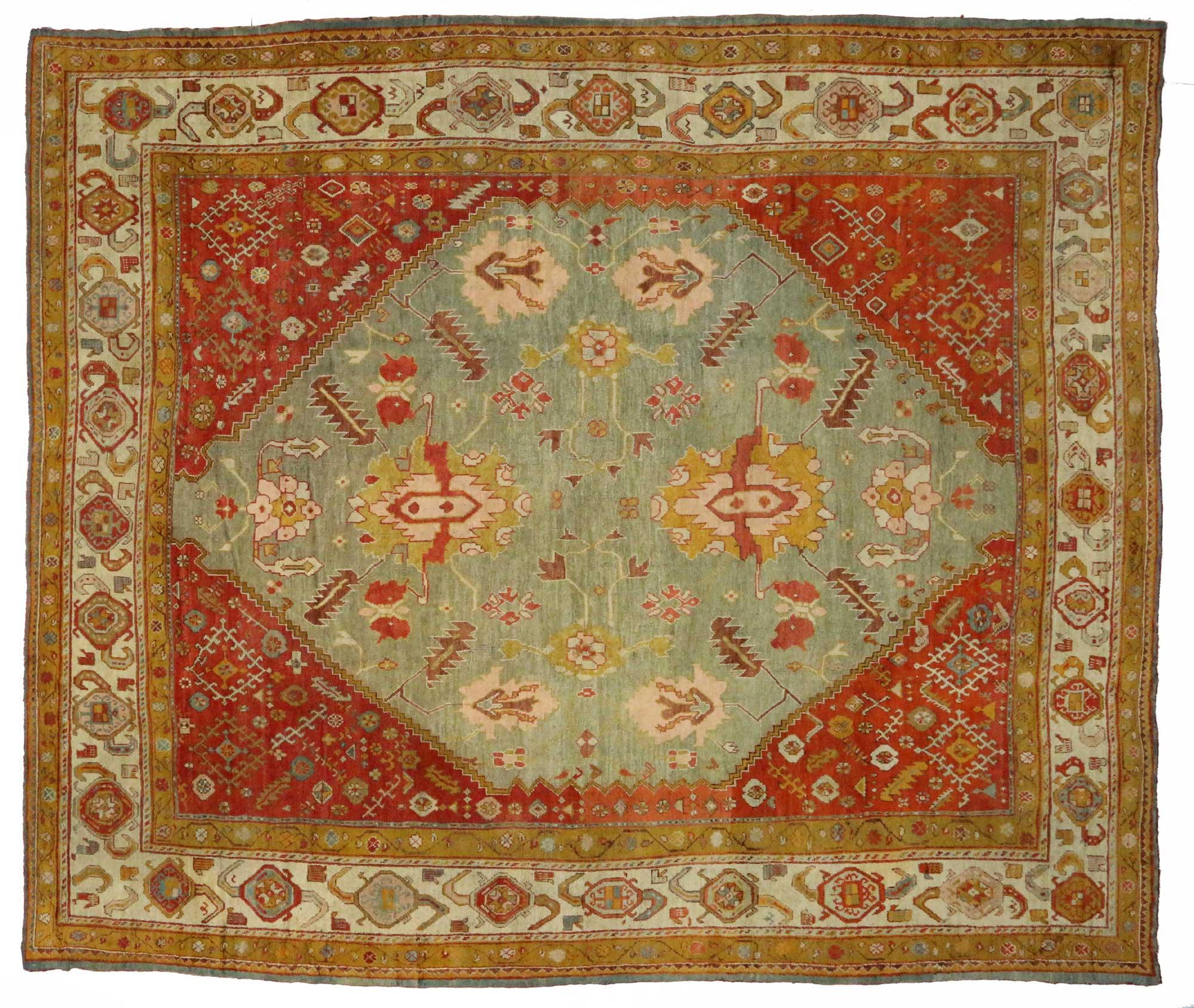 16 X 19 Antique Oushak Rug 73047