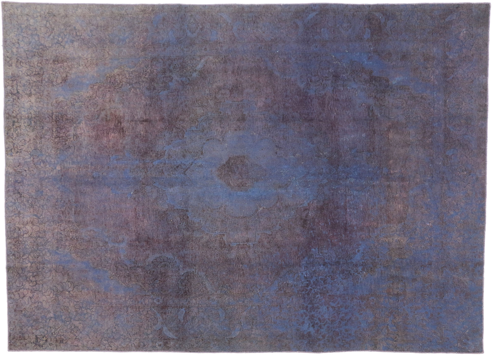 Vintage Distressed Overdyed Rug 60787