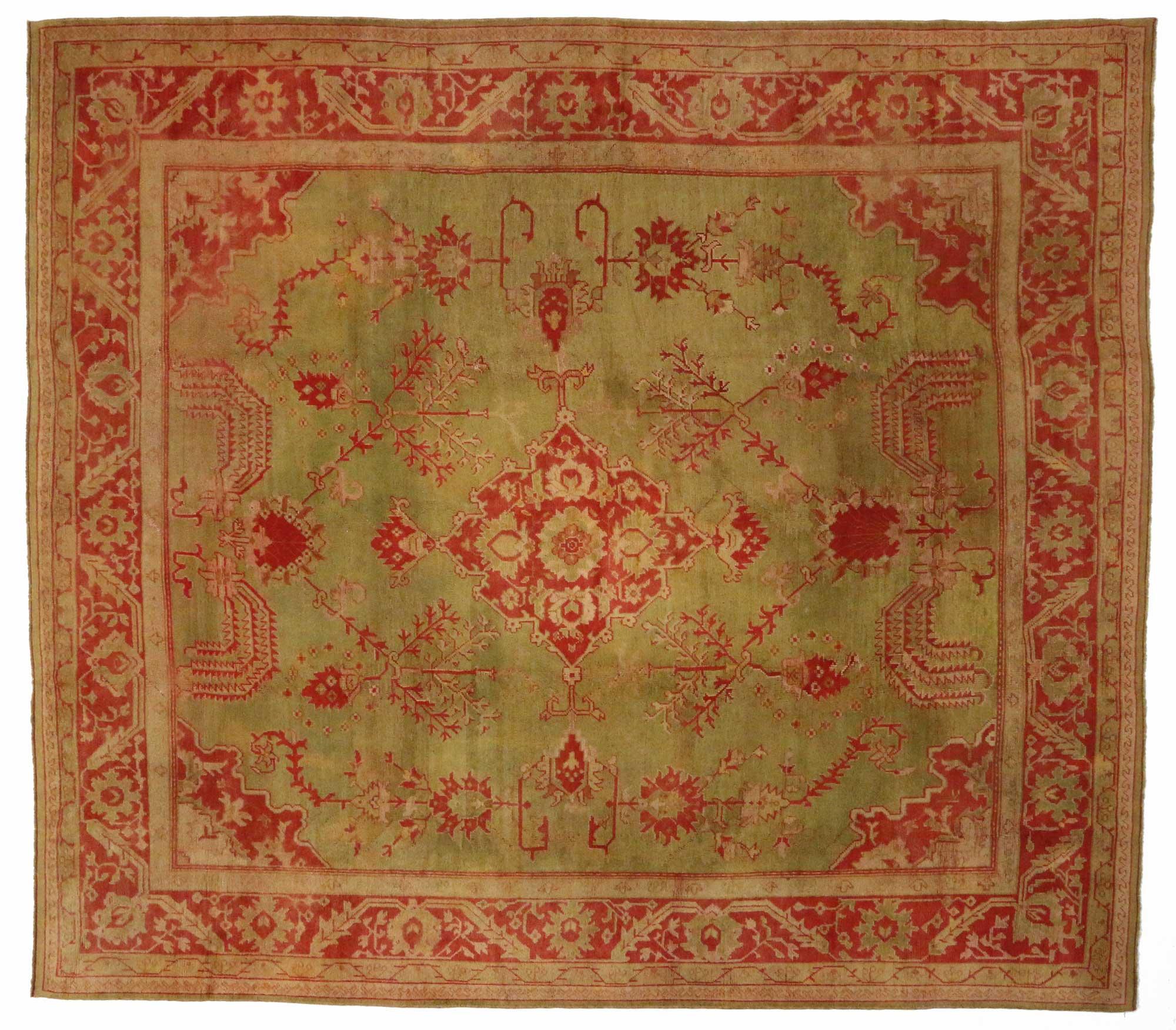 14 X 16 Antique Oushak Rug 74173