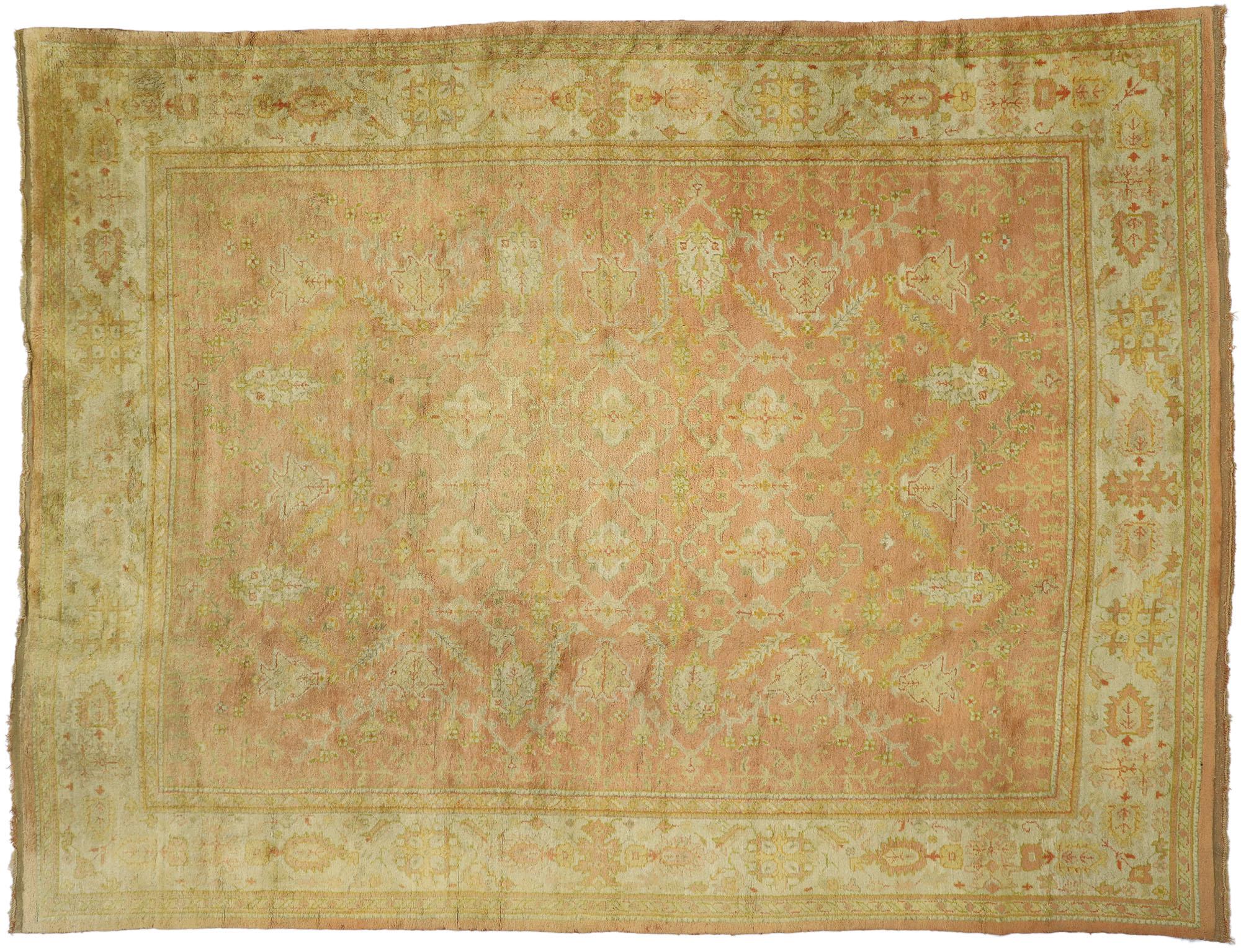 Antique Oushak Oriental Rug 9 x 12