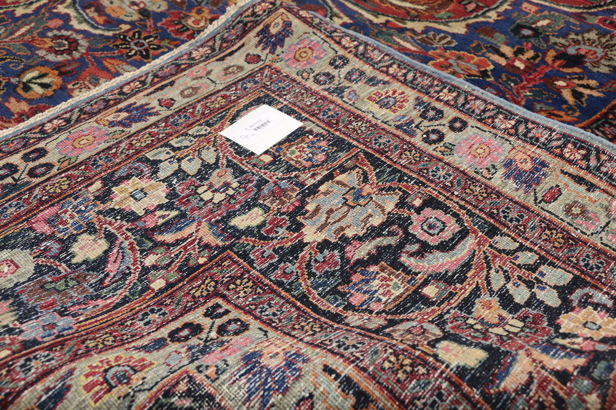 Antique Mashad Oriental Rug 10 X 17