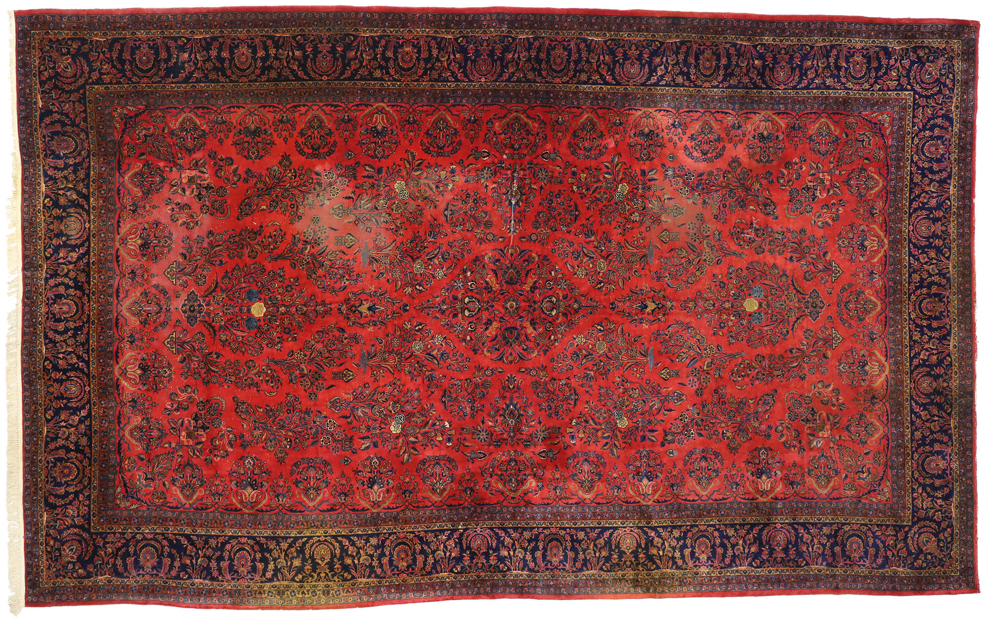 11 X 17 Antique Kashan Rug 77370