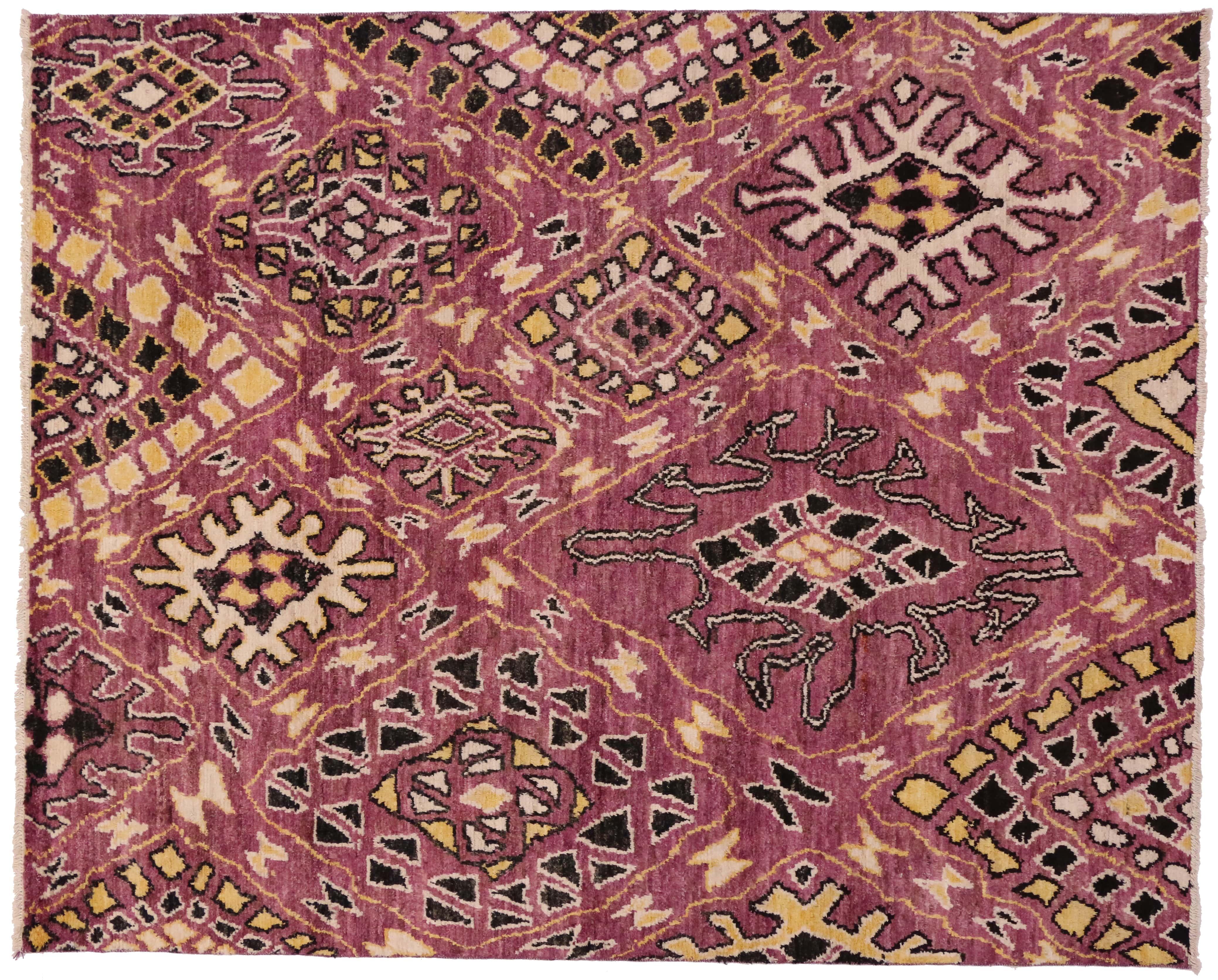 New Moroccan 9 X 11 Wool Rug 80269