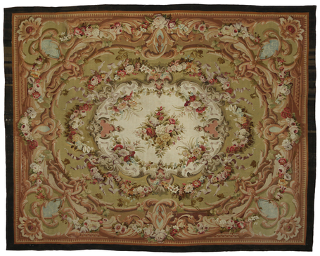 13 x 16 Antique French Aubusson Rug 76903