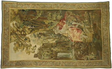6 x 10 Antique Pastoral Tapestry 77225