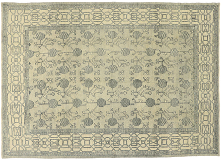 9 x 13 Contemporary Turkish Oushak Rug 52898