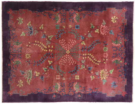 9 x 11 Antique Chinese Art Deco Rug 77582
