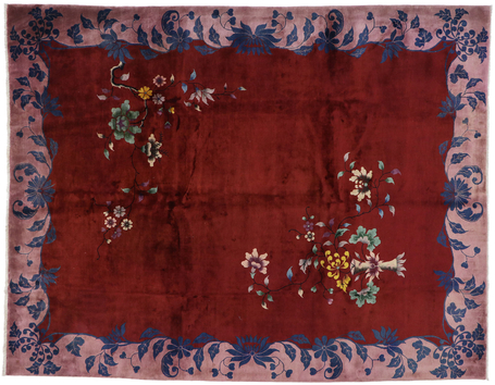 9 x 11 Antique Chinese Art Deco Rug 77626