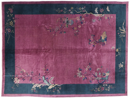 9 x 12 Antique Chinese Art Deco Rug 77629