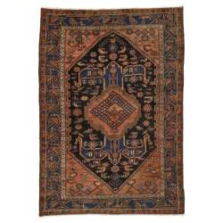 5 x 6 Antique Persian Hamadan Rug 20444