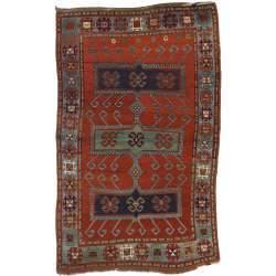 4 x 7 Antique Kazak Rug 73706