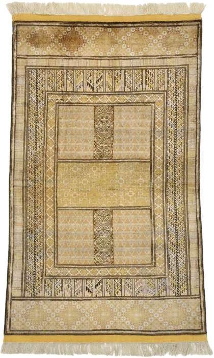 3 x 5 Afghan Silk Rug 71971