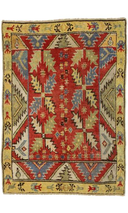4 x 5 Antique Oushak Rug 52445