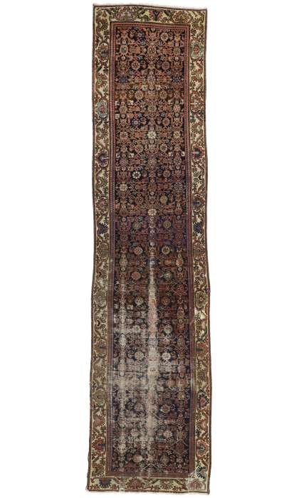 4 x 16 Antique Hamadan Rug 77227