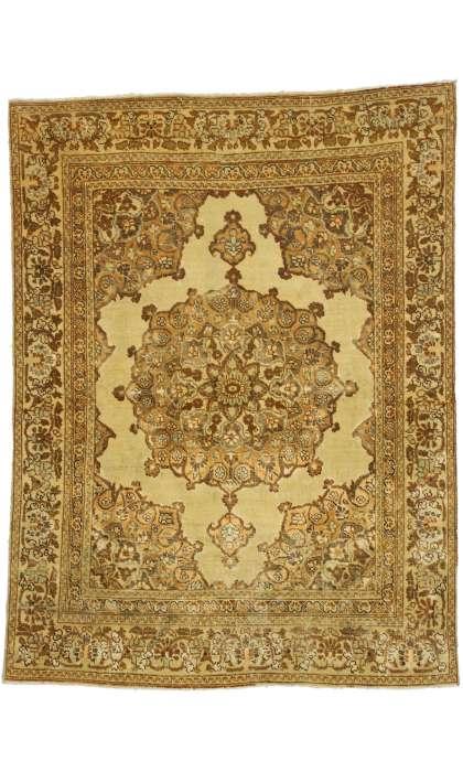4 x 5 Vintage Tabriz Rug 51173