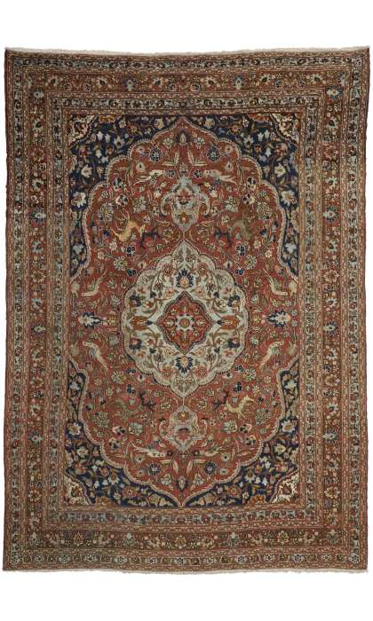 9 x 13 Antique Tabriz Rug 73111