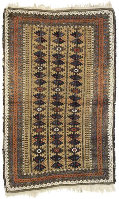 3 x 5 Antique Baluch Rug 73279