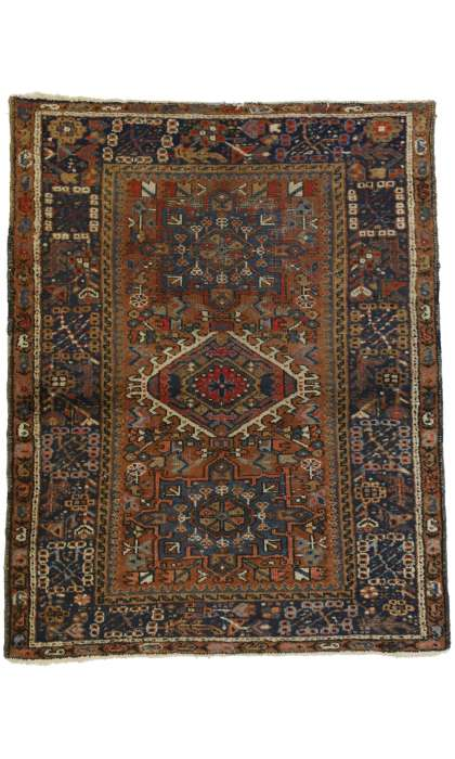 3 x 4 Antique Heriz Rug 73292