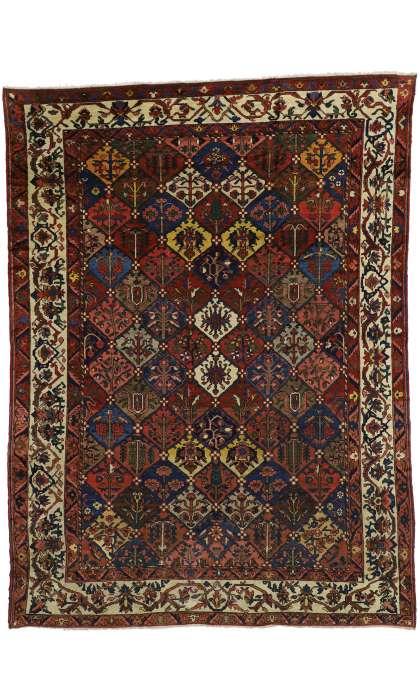 10 x 13 Antique Bakhtiari Rug 73330