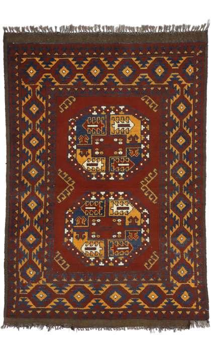 3 x 5 Vintage Afghan Rug 74664