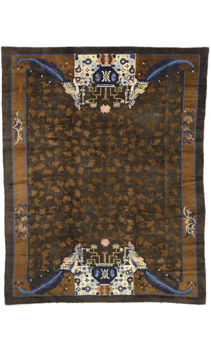 9 x 11 Antique Peking Rug 77239