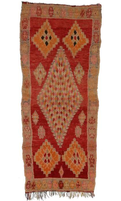 4 x 10 Vintage Moroccan Rug 20264