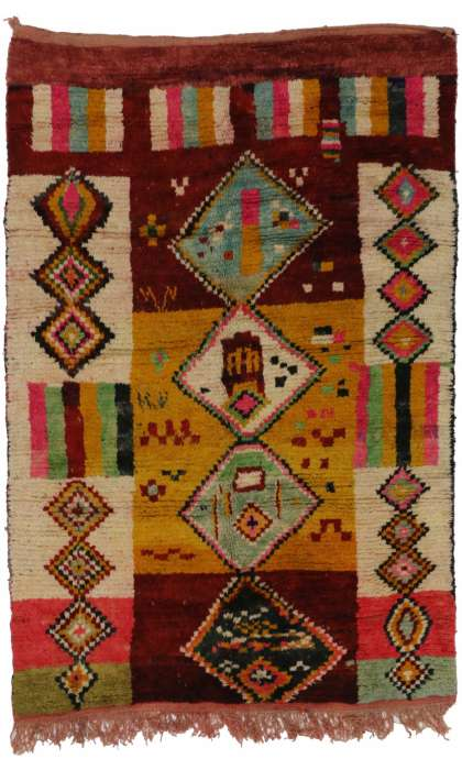 5 x 8 Vintage Moroccan Rug 20282