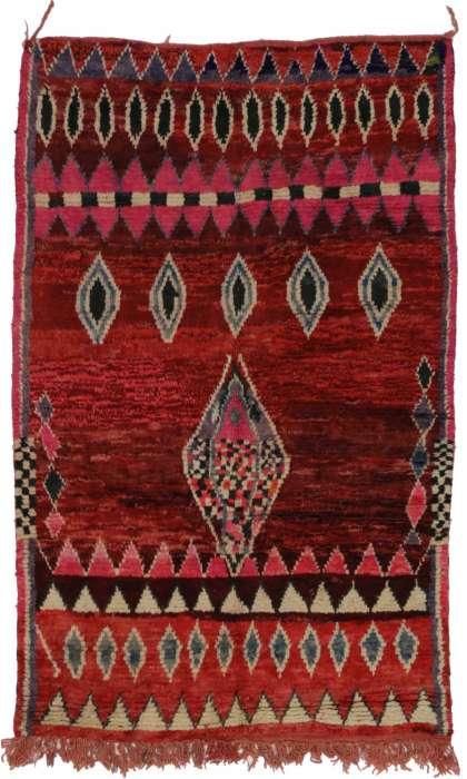 5 x 8 Vintage Moroccan Rug 20284