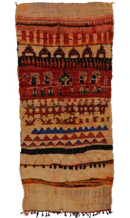 5 x 8 Vintage Moroccan Rug 20294