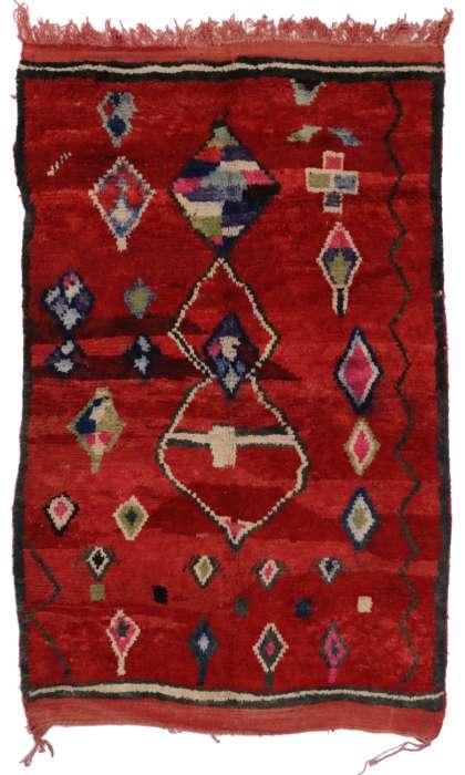 5 x 8 Vintage Moroccan Rug 20304