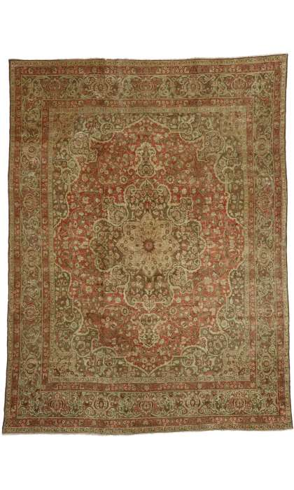 9 x 12 Antique Tabriz Rug 50392