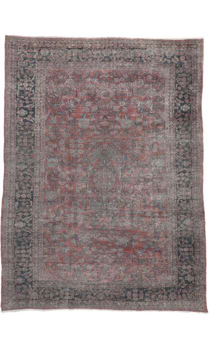 9 x 12 Antique Tabriz Rug 72868