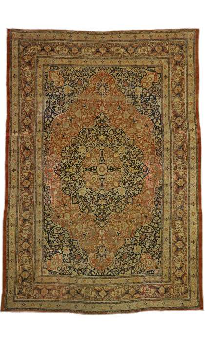 9 x 13 Antique Tabriz Rug 73130