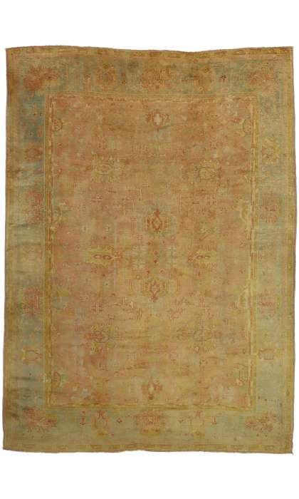 10 x 14 Antique Oushak Rug 73159