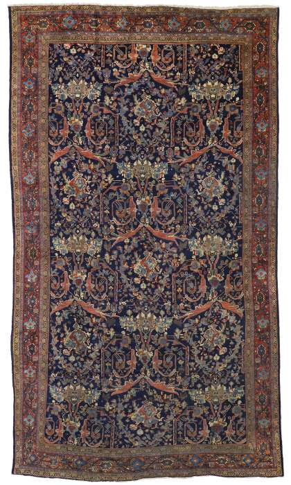 10 x 17 Antique Mahal Rug 73384