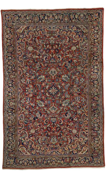 9 x 14 Antique Mahal Rug 73385