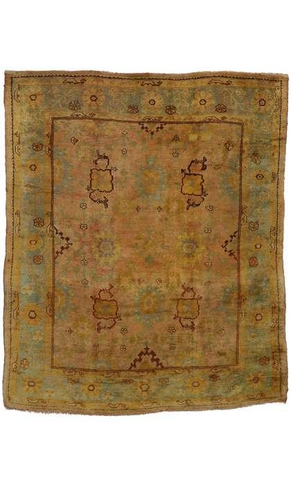 9 x 11 Antique Oushak Rug 73987