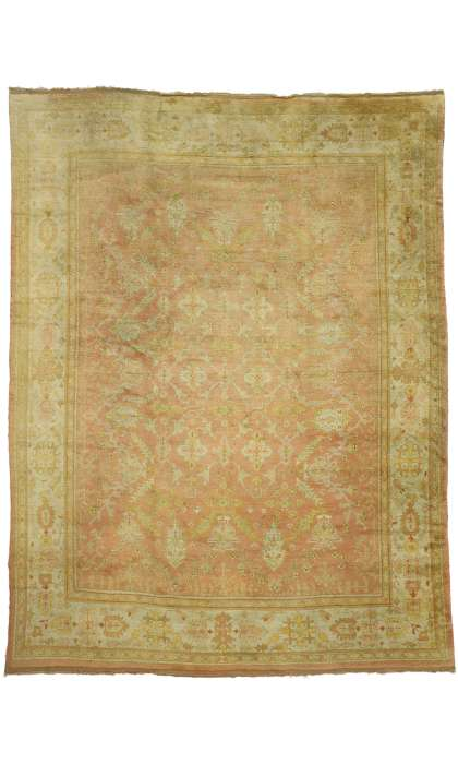 10 x 13 Antique Oushak Rug 74249