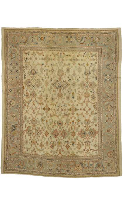 11 x 14 Antique Oushak Rug 74250