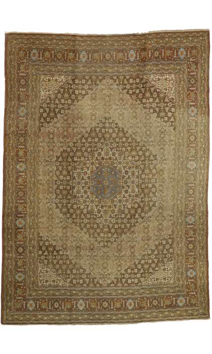 9 x 13 Antique Tabriz Rug 74327