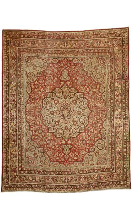 11 x 14 Antique Tabriz Rug 74937