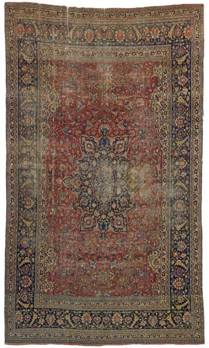 9 x 16 Antique Mashad Rug 76594