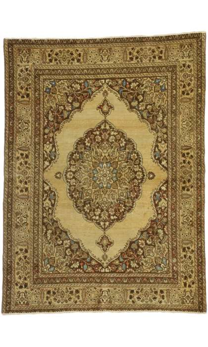 4 x 5 Antique Persian Tabriz Rug 50671