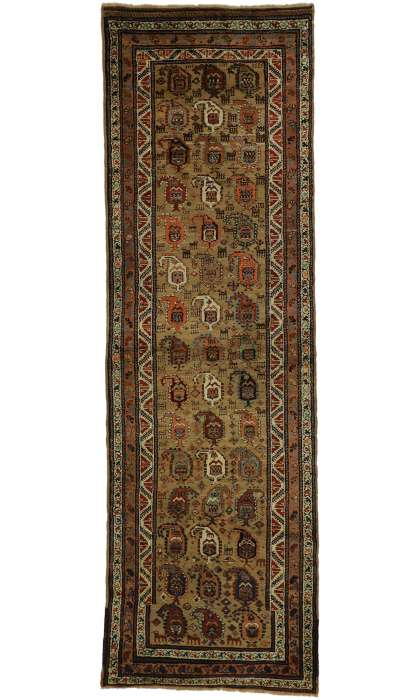 4 x 11 Antique Kurd Rug 77290
