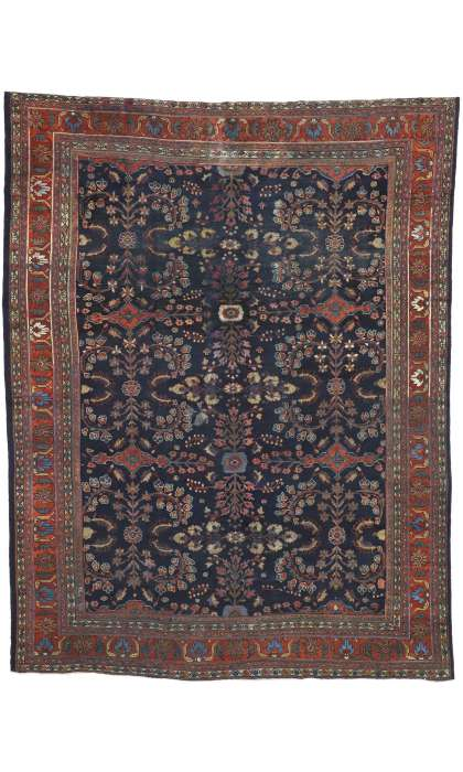 10 x 13 Antique Mahal Rug 73069
