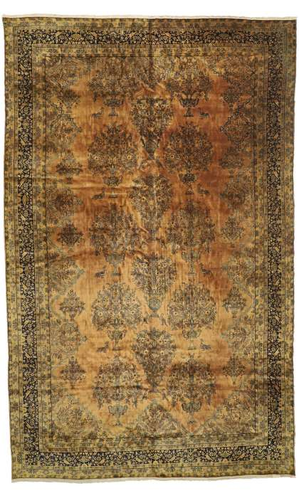 12 x 19 Antique Kashan Rug 73123
