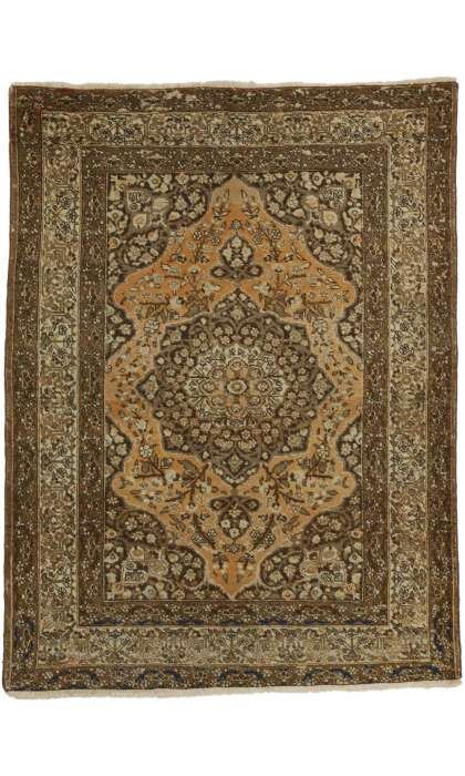 4 x 5 Antique Tabriz Rug 73430
