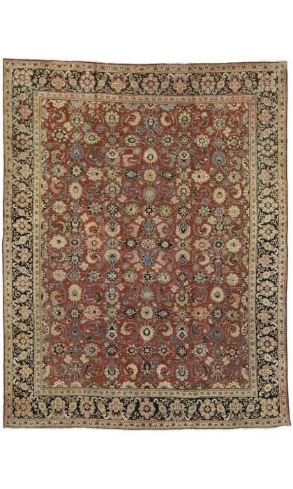 10 x 13 Antique Mahal Rug 75702